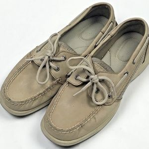 Sperry Top-Sider Intrepid Boat Shoes 7.5 Beige